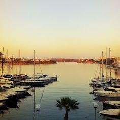 Port de Maó en Mahón, Islas Baleares