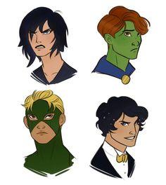 Young Justice Genderbent - Super Girl, Mr. Martian, Zatan