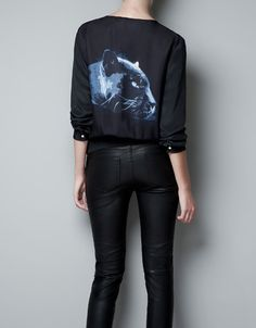 PRINTED SILK TOP WITH ZIP - Shirts - Woman - ZARA United States