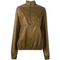 Yeezy Season 3 windbreaker jacket ($389) via Polyvore featuring outerwear, jackets, brown, adidas originals jacket, wind jacket, zip front jacket, adidas originals windbreaker and wind breaker jacket