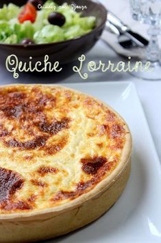 Lorraine quiche from Cyril Lignac easy recipe – Famous Last Words Chefs, Breakfast Recipes, Snack Recipes, Cooking Recipes, Lorraine Recipes, Brunch, Cuisine Diverse, Quiche Recipes, Healthy Crockpot Recipes