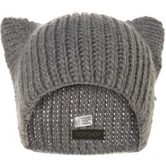 Knitted cat ear beanie wonder if there is a crochet pattern for this! Beanie Hats, Beanies, Winter Accessories, Fashion Accessories, Mode Swag, Cute Hats, Funny Hats, Kawaii Fashion, Crazy Cat Lady