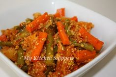 My Kitchen Snippets: Nyonya Acar/Spicy Pickle Vegetables
