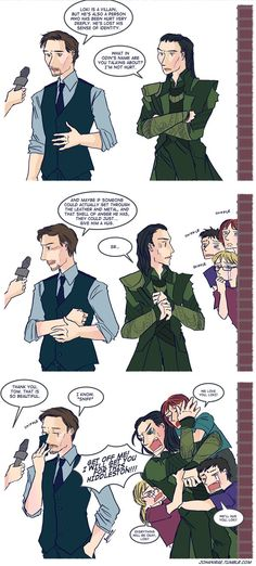 There is no other fandom that really, really likes to draw an actor and their character interacting as much as the Avengers fandom.