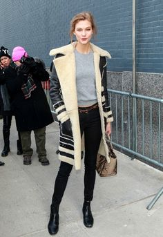 Shearling Coats Are The Cosiest Option: Rihanna, Zoe Kravitz and Karlie Kloss know it   ASOS