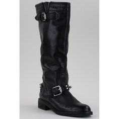 Perfect Boots!! Sam Edelman Black Leather Studded Knee High Ashlyn Biker Boots only $149 @ Mosh Posh