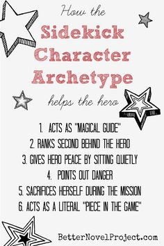 The sidekick character archetypes in Harry Potter and The Hunger Games each act as a magical guide, but are badly hurt on the mission.