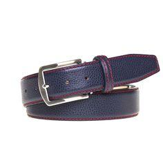 Blue Jean Italian Pebble Grain Belt