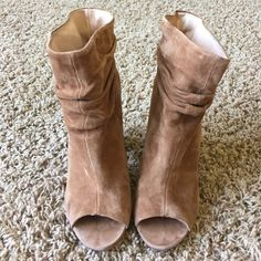 Kristen Cavallari Peep Toe Bootie Gently worn in good condition. Shoes Ankle Boots & Booties Bootie Boots, Ankle Boots, Fall Heels, Peep Toe, Wedges, Booty, Stitch, Bags, Shoes