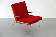 boomerang chair in red