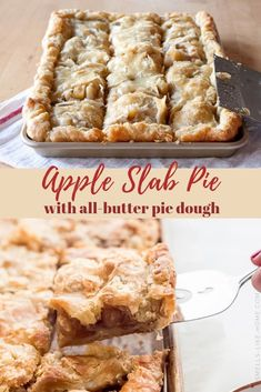 Pie recipes 128493395605299024 - Apple slab pie is party pie! It's an apple pie with an all-butter pie dough baked on a baking sheet and served in squares. What could possibly be better? Thanksgiving Desserts, Fall Desserts, Just Desserts, Christmas Potluck, Christmas Cooking, Christmas Desserts, Best Apple Desserts, Christmas Pies, Apple Deserts