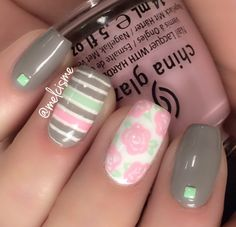 Floral and stripes because i am ready for spring!! By IG user melcisme