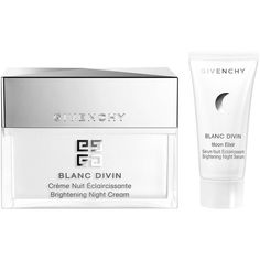 Givenchy Blanc Divin Night Cream and Moon Elixir Brightening Night... ($98) ❤ liked on Polyvore featuring beauty products, skincare, face care, givenchy skin care, givenchy and givenchy skincare
