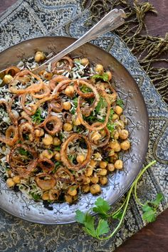 Basmati and Wild Rice with Chickpeas, Currents and Herbs (vegan and gluten free) - The View from Great Island