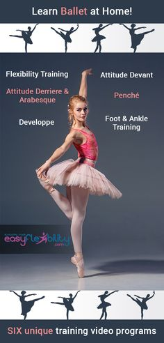 These VIDEO PROGRAMS will help achieve the best result learning ballet. The course fits you if you want to learn it from scratch or to improve your current level. Dance Flexibility Stretches, Ballet Stretches, Flexibility Training, Dance Hip Hop, Tap Dance, Worship Dance, Modern Dance, Dance Moms, Dance Class