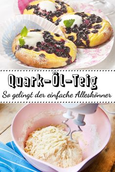 Ein Quark-Öl-Teig ist einfach und schnell gemacht. Der unkomplizierte #Teig kann nach Belieben geformt und herzhaft oder süß gefüllt und belegt werden.