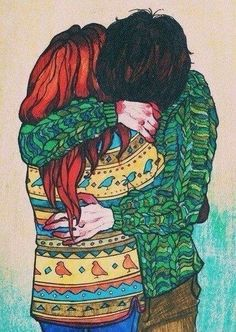 """More gorgeous """"Eleanor and Park"""", by Rainbow Rowell - Art by Vera Moon."""