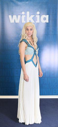 Reserved for Miss C. Pre-loved Daenerys Targaryen Season 4 Dress - Used Game of Thrones Khaleesi Costume -Blue Cosplay Mother of Dragons