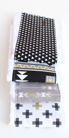 Gender Neutral Baby Burp Cloths, Burp Cloth Set, Black, White and Gold Burp Cloth Set, Baby Burp Clothes, Baby Shower Gift,Monochrome Baby by UrbanAnneDesigns on Etsy