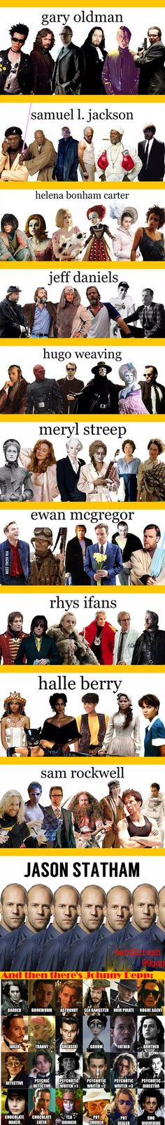 Actors And Their Very Diverse Roles - 9GAG