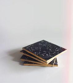 DIY: Constellation coasters