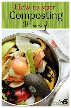 Want to start composting? It is easier than you think! It is as easy as getting a container, finding a spot for it, filling it up, and turning it!