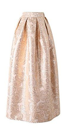 CHICING Women's Gold Party Pleated Long Maxi Skirts (One Size, Gold): Amazon.co.uk: Clothing
