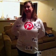"""My friend's Halloween costume!!  She was """"Pinterest""""!!  Love it!!"""