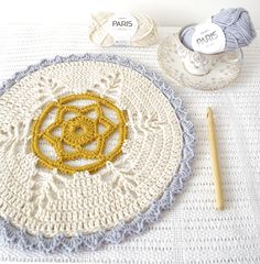 Imelda Starflower Crochet Doily designed by Emma Lamb from the book Mollie Makes Crochet. Lovely blog post with link to book information. | Little Doolally