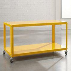 Sauder Studio RTA Soft Modern MultiCart Yellow Saffron -- You can get additional details at the image link.