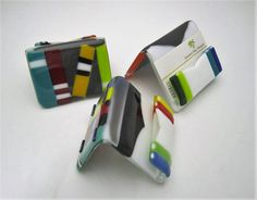 Booklover Fused Glass Cardholder by JanuaryMayDesigns on Etsy