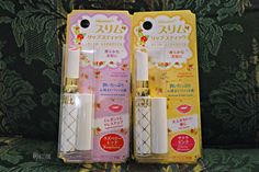 Winmax Slim Lipstick in Cherry Blossom & Raspberry  /// Daiisoo: [Review]: Daiso Makeup Brush Cleaner + Daiso Winmax Slim Lipstick