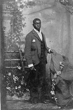 African American Man African American man, full-length portrait, standing. ca. 1870-1900 Vintage African American photography courtesy of Black History Album, The Way We Were.