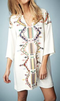 **Embroidered Smock Dress by Kate Moss
