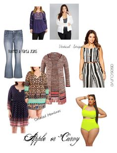 Body Type : Apple by ferrerchristine on Polyvore featuring polyvore, fashion, style, Arizona, ASOS Curve, maurices, Highness NYC and Wet Seal
