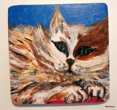 Square magnethand paintedtheme di Stelmarya su Etsy, €10.00