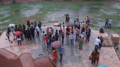 People are enjoying a beautiful climate at Gobindgarh Fort. www.fortgobindgarh.com