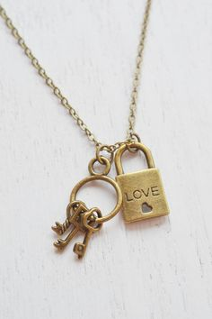 skeleton key necklace,lock necklace,friendship necklace,key and lock necklace,besties,couple necklace,key to my heart,i love you,heart lock jewelry,couples necklace,relationship,key charm