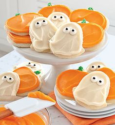Cheryl's Pumpkin & Ghost Cut-Out Cookies