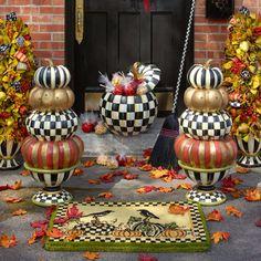 MacKenzie-Childs - Entryway Stacking Pumpkins