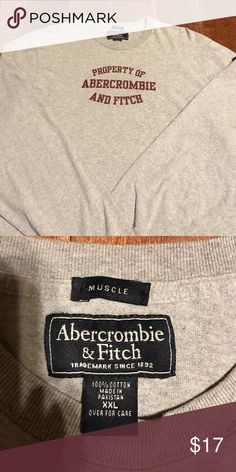 Abercrombie Mens XXL L/S tee Heavier weight quality tshirt material, long sleeve, great condition. Size XXL muscle tee so fits slightly tighter than a regular xxl Abercrombie & Fitch Shirts Tees - Long Sleeve