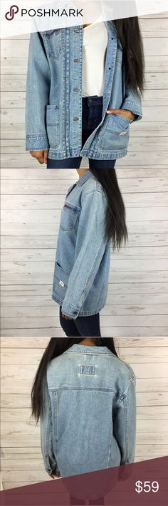 Lauren Jeans Men's Oversized Denim Jacket Lauren Jeans Men's Oversized Denim Jacket   Men's Denim Jacket size Small Oversized look on a woman model wears sized XS/S  Button Closure  100% Cotton  Two zipper pockets Ralph Lauren Jackets & Coats Jean Jackets