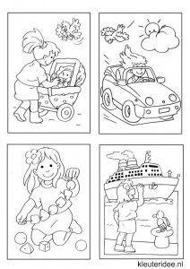 Kleine kleurplaatjes 10 voor meisjes, kleuteridee.nl , deze kleurplaatjes maken kleuters echt af ;), free printable.