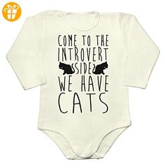 Come To The Introvert Side We Have Cats Baby Long Sleeve Romper Bodysuit Small - Baby bodys baby einteiler baby stampler (*Partner-Link)