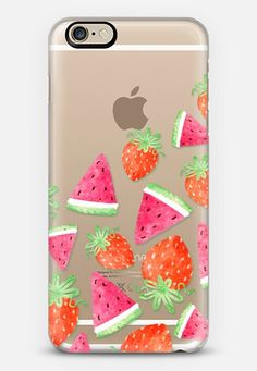Summer Strawberry and Watermelon Healthy Fruit Pattern by Rachel Corcoran | @casetify