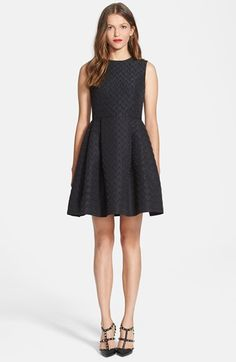 RED Valentino Jacquard Faille Fit & Flare Dress available at #Nordstrom. Very cute details : )