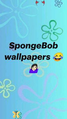 SpongeBob wallpapers 😂🤷🏻♀️  <br> Aesthetic Backgrounds, Aesthetic Iphone Wallpaper, Aesthetic Wallpapers, Cartoon Wallpaper, Wallpaper Backgrounds, Spongebob Memes, Spongebob Squarepants, Funny Wallpapers, Phone Wallpapers