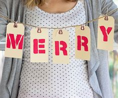 Repurpose shipping tags to create this personalized holiday garland: http://www.bhg.com/christmas/garlands/holiday-garland-ideas/?socsrc=bhgpin101314shippingtagmerrychristmasgarland&page=4