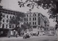 Hannover 1949 | Wiederaufbau in vollem Gange : Hier am Georgsplatz mit Blick auf die Georgstrasse - Ecke Baringstrasse.  Lichtbild-Archiv : K.O.S.