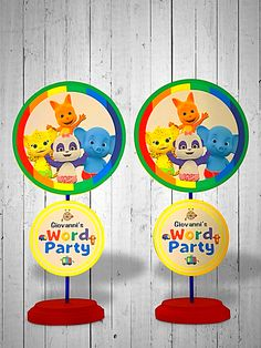 Word Party Centerpieces! Message to order at Etsy.com. Shop name is Portianicolecreation. #wordparty #wordpartycenterpieces #wordpartydecorations #wordpartyideas #wordpartybirthday #handmade #custommade #diy